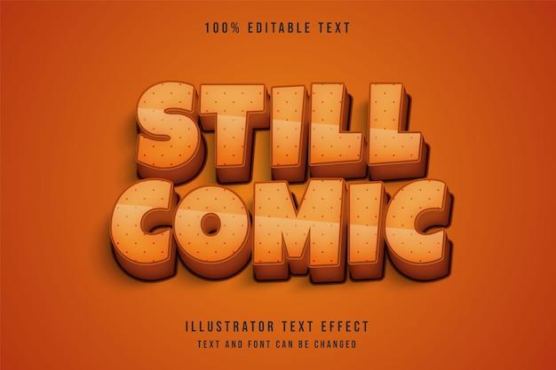 Noch komische, bearbeitbare texteffektcreme-abstufung gelb-orange comic-schatten-textstil Premium Vektoren
