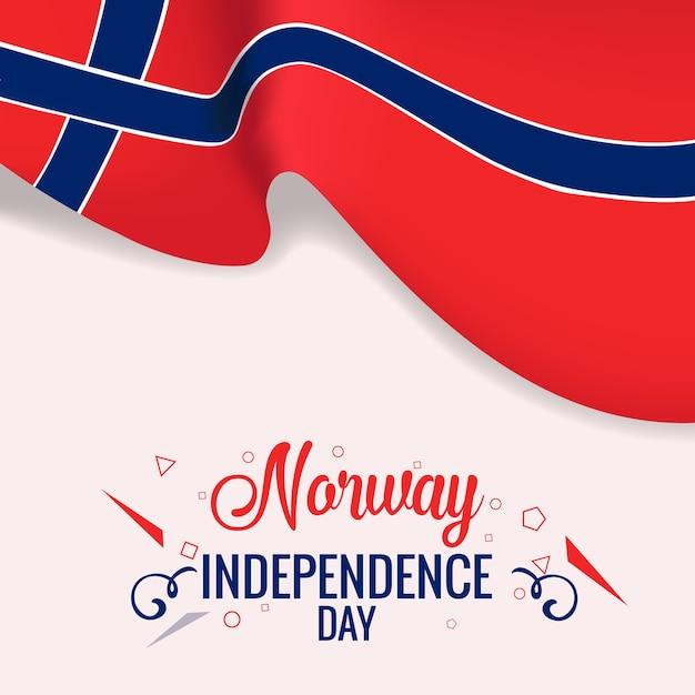 Norwegen unabhängigkeitstag banner Premium Vektoren