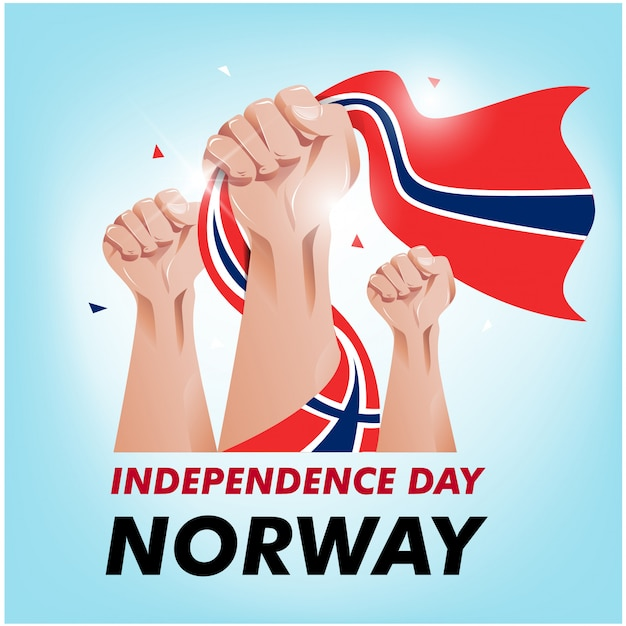 Norwegischer unabhängigkeitstag Premium Vektoren