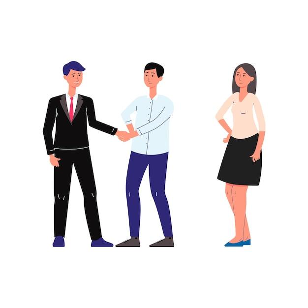 Notar öffentliche dienste und rechtshilfe szene mit menschen zeichentrickfiguren paar konsultiert mit anwalt. Premium Vektoren