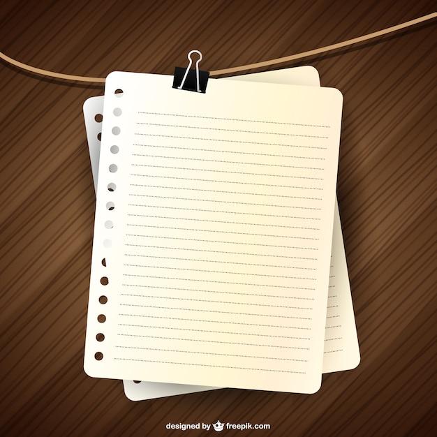 Notebook-seite vektor-design Kostenlosen Vektoren