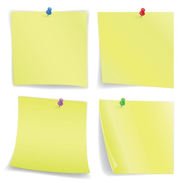 Notebooks blätter mit stiften Premium Vektoren
