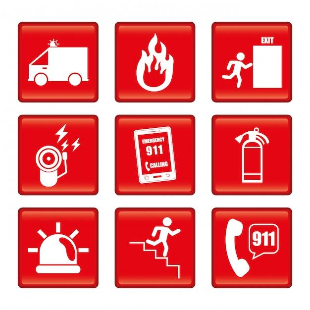 Notfall-design-illustration Premium Vektoren