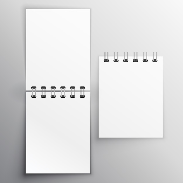 Notiz-tagebuch mockup design-vorlage Kostenlosen Vektoren