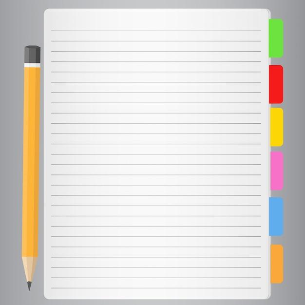 Notizbuch Premium Vektoren