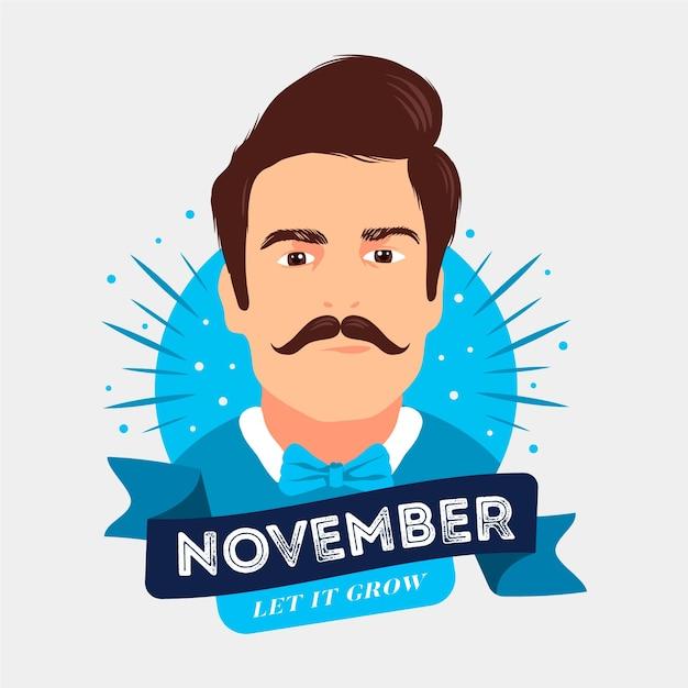 November-konzept im flachen design Kostenlosen Vektoren