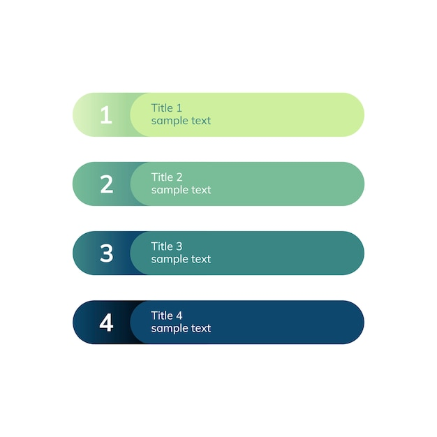 Nummerierter listengeschäftselementvektor Kostenlosen Vektoren