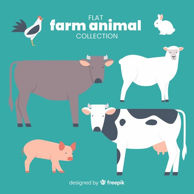 Nutztiersammlung Kostenlosen Vektoren