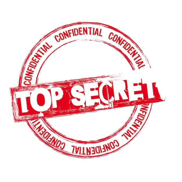 Oben geheime briefmarke Premium Vektoren