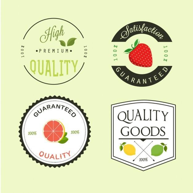 Obst-label-design Kostenlosen Vektoren