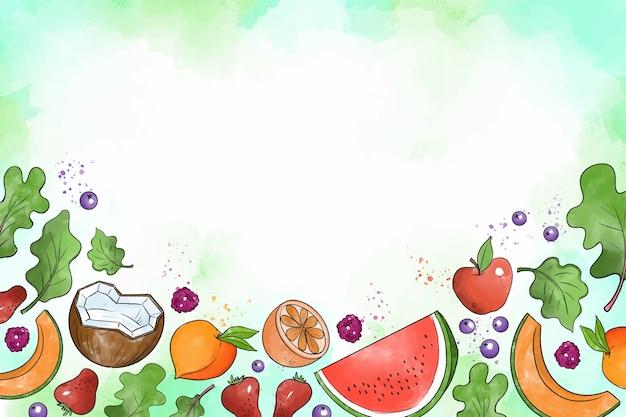 Obst und gemüse hintergrund Kostenlosen Vektoren