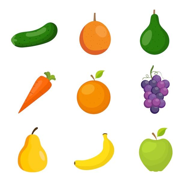 Obst und Gemüse Sammlung | Download der kostenlosen Vektor
