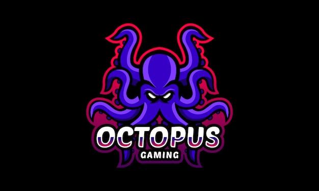 Octopus gaming esports-logo Premium Vektoren