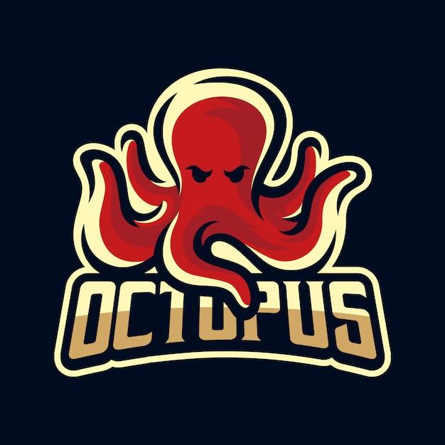 Octopus / kraken / tintenfisch maskottchen logo Premium Vektoren