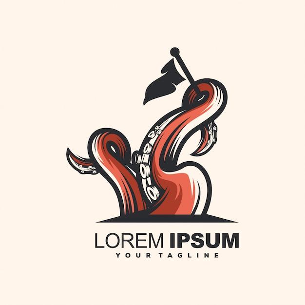 Octopus-logo-vorlage Premium Vektoren