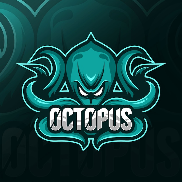 Octopus maskottchen logo esport vorlagen Premium Vektoren
