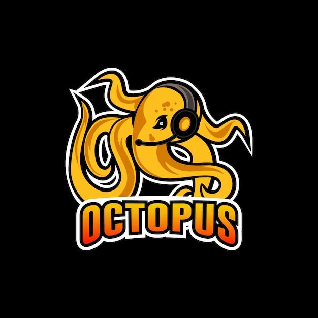 Octopus sport maskottchen-logo Premium Vektoren
