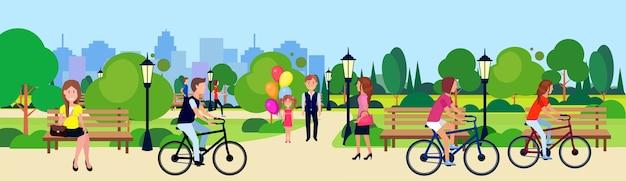 Öffentlicher park Premium Vektoren