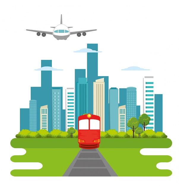 Öffentlicher zugverkehr Kostenlosen Vektoren