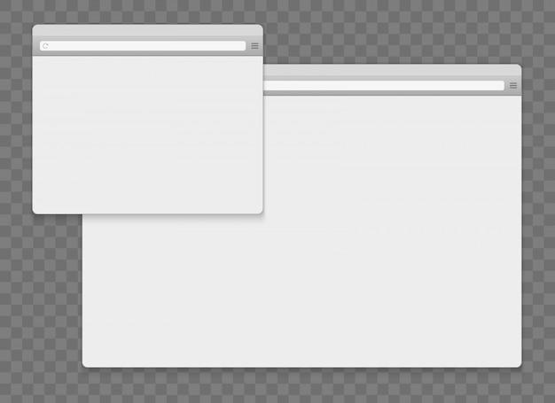 Öffnen sie den browser-hintergrund des internetfensters. Premium Vektoren