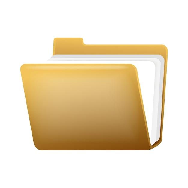 Öffnen sie ordner mit dokumenten Kostenlosen Vektoren