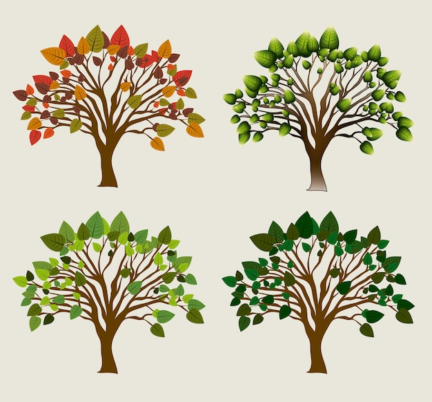 Ökologie-design Premium Vektoren