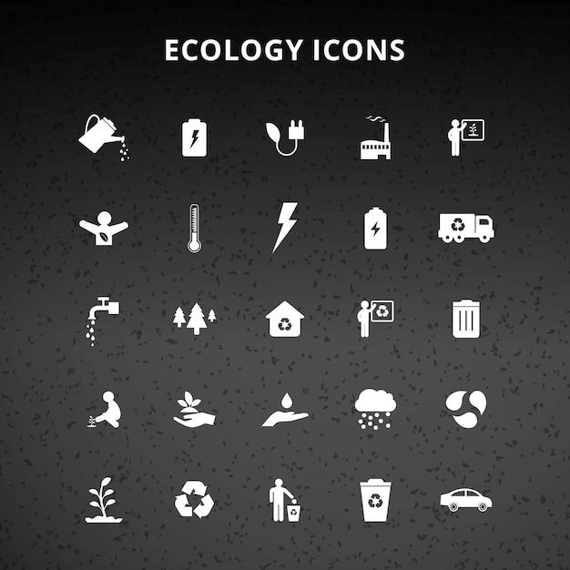 Ökologie ikonen Kostenlosen Vektoren