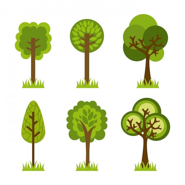 Ökologiedesign über hintergrundvektorillustration Premium Vektoren