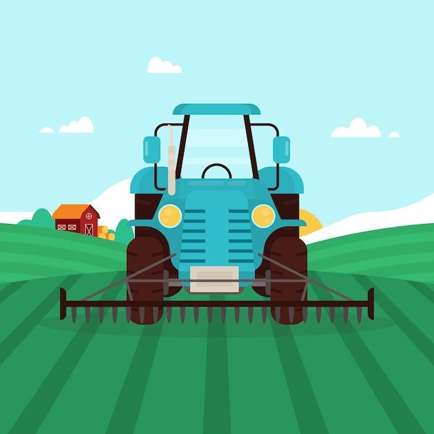 Ökologischer landbau konzept illustration Kostenlosen Vektoren