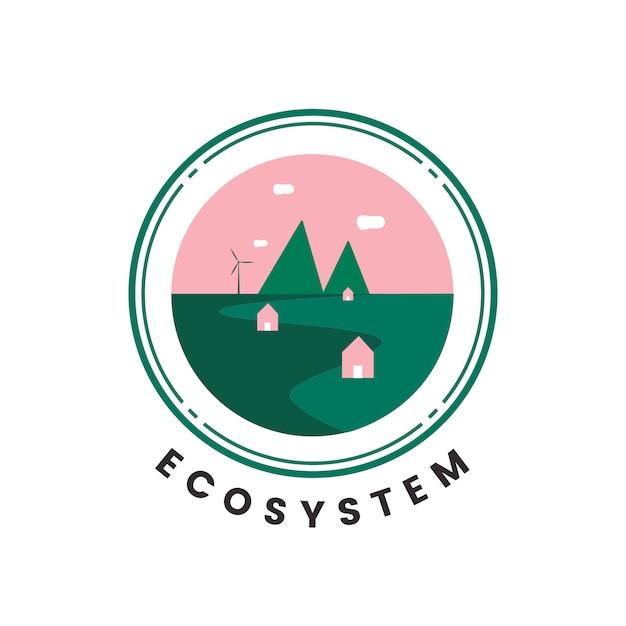 Ökosystem- und naturikonenvektor Kostenlosen Vektoren