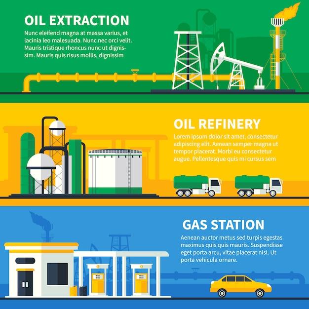 Öl gas banner set Kostenlosen Vektoren