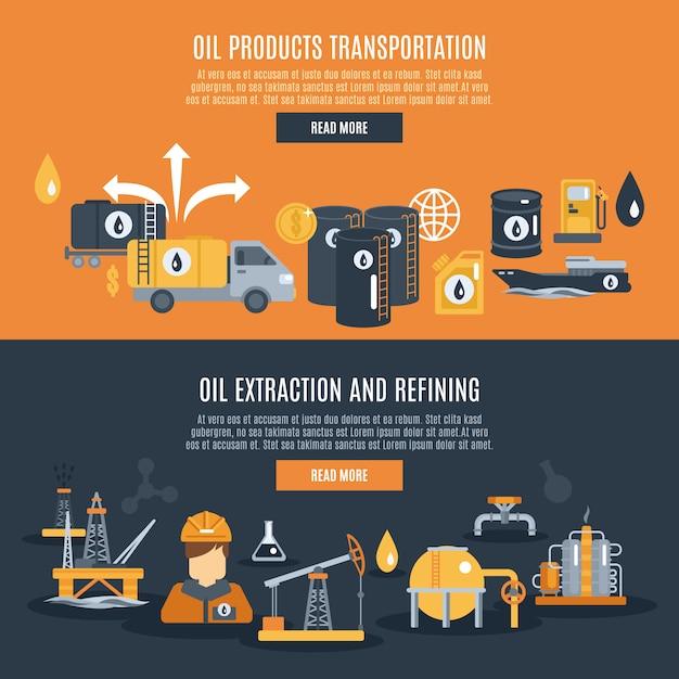 Ölindustrie-banner Kostenlosen Vektoren