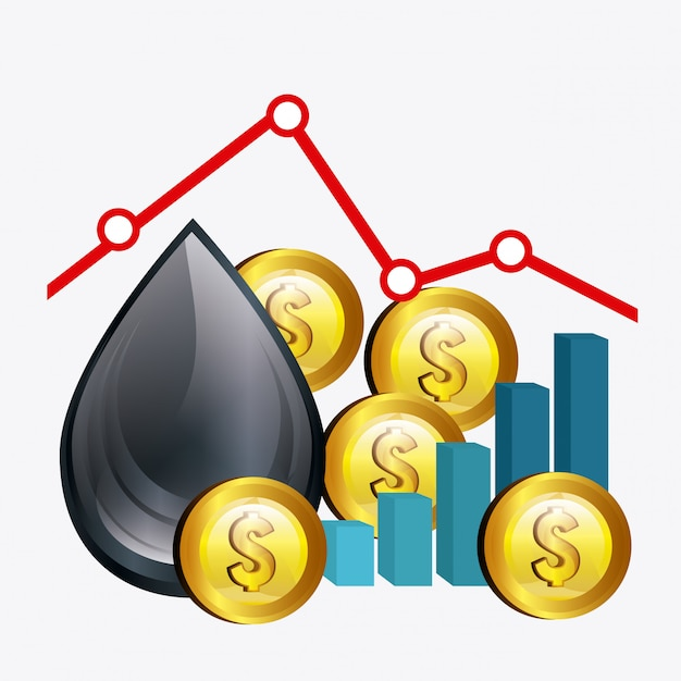 Ölpreisindustrie Premium Vektoren