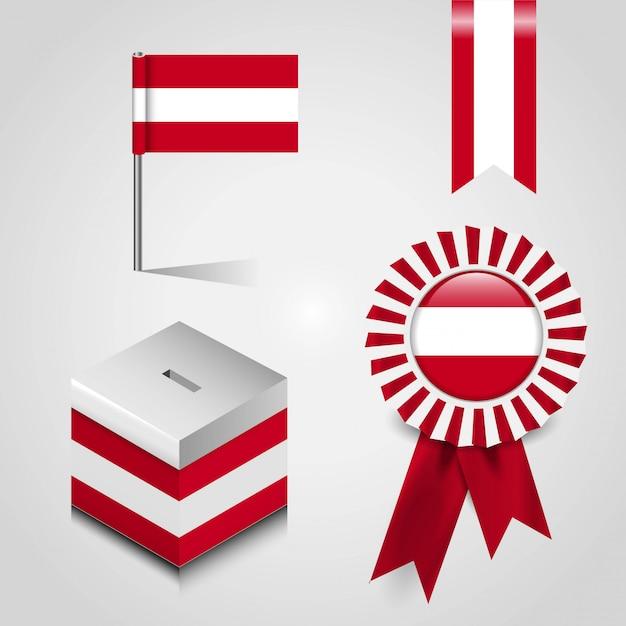 Österreich flagge design vektor Premium Vektoren