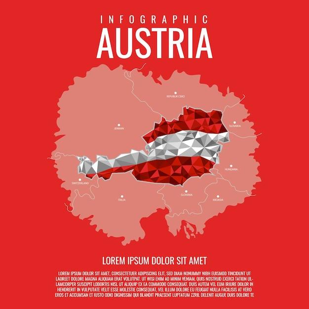 Österreich karte infografik Premium Vektoren