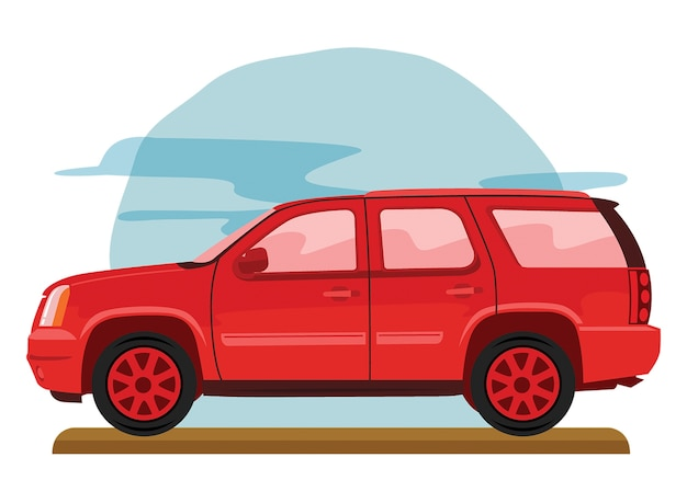 Off road familienauto Premium Vektoren