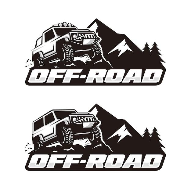Off-road-logo-vorlage Premium Vektoren