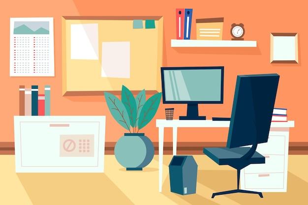Office-hintergrund für videokonferenzen Kostenlosen Vektoren