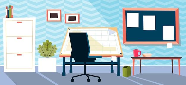 Office - hintergrund für videokonferenzen Kostenlosen Vektoren