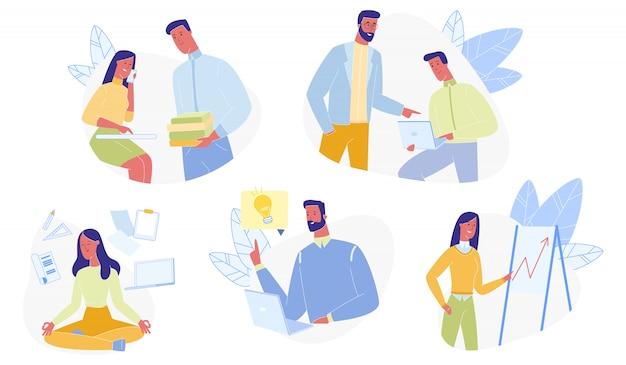 Office people set isoliert Premium Vektoren