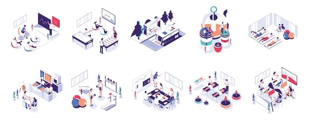 Office people und co-working space Premium Vektoren