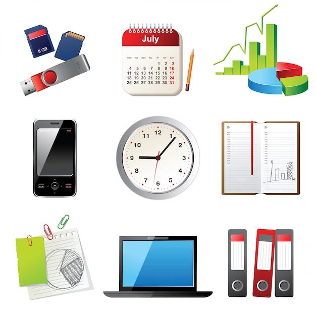 Office-symbole Premium Vektoren