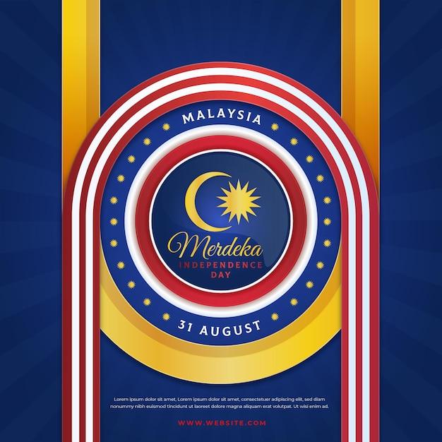 Offizielle design malaysia unabhängigkeitstag flagge Kostenlosen Vektoren