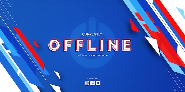 Offline twitch banner Kostenlosen Vektoren