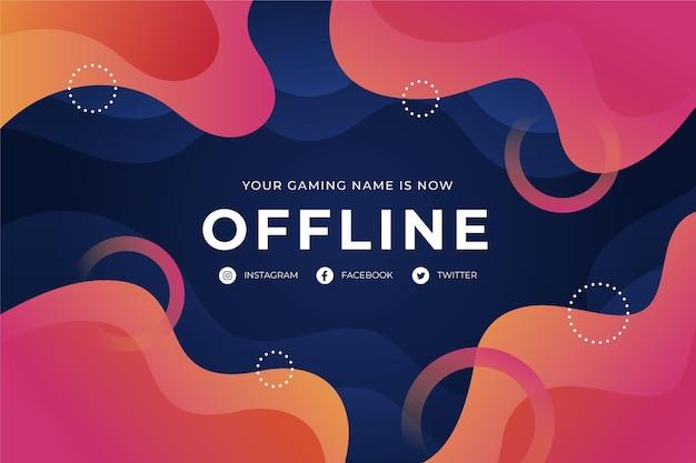 Offline zucken abstrakte banner vorlage Kostenlosen Vektoren