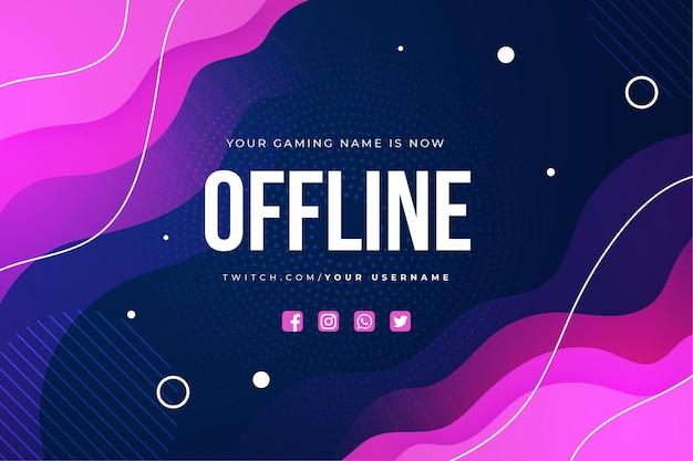 Offline zuckende banner vorlage Premium Vektoren