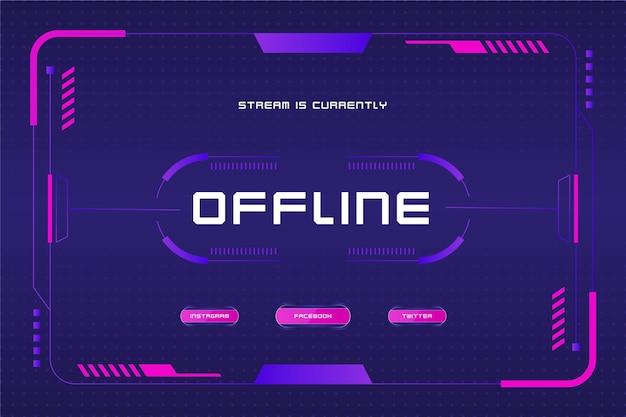 Offline zuckendes banner im gamer-stil Kostenlosen Vektoren