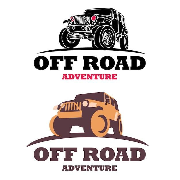 Offroad-auto-logo Premium Vektoren
