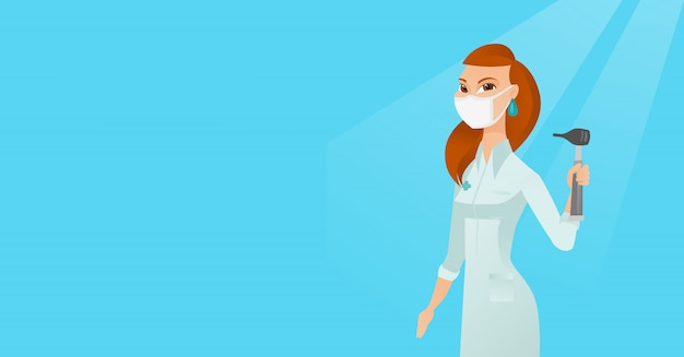 Ohrnasen-halsdoktor-vektorillustration. Premium Vektoren