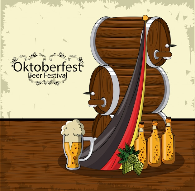 Oktober bierfest Premium Vektoren